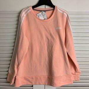 LG adidas light pink crew sweater